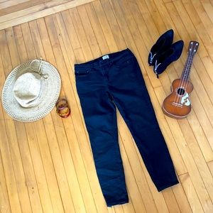 J. Crew toothpick black denim jeans